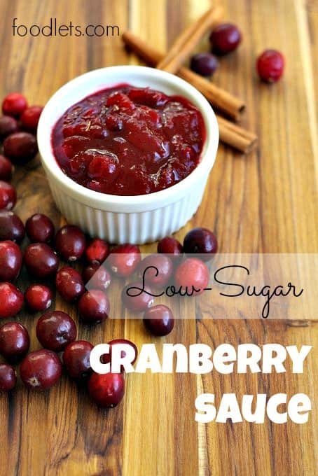 low-sugar cranberry sauce, foodlets