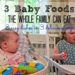 3 baby foods the whole family can eat, foodlets