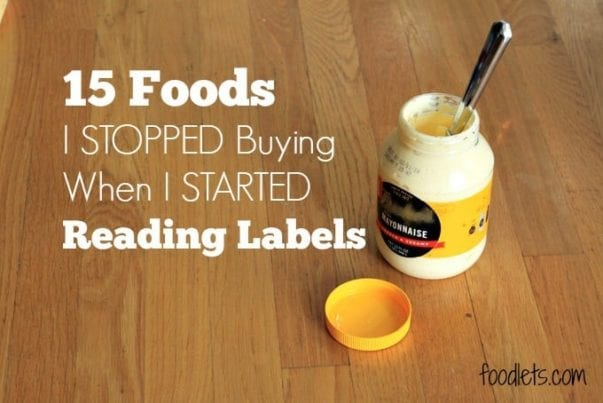 foods I stopped buying