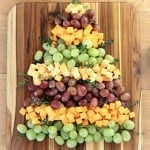grapes and cheese christmas tree, foodlets