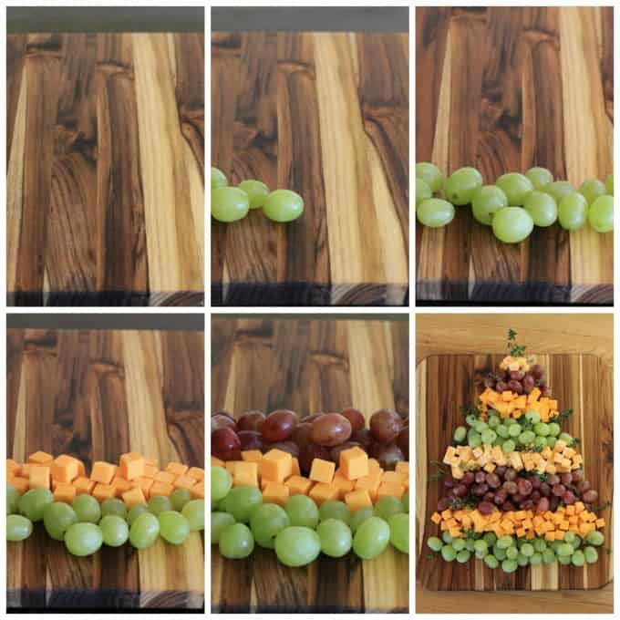 how to make a christmas tree cheese and grapes board & How to make a Christmas tree platter made of grapes and cheese