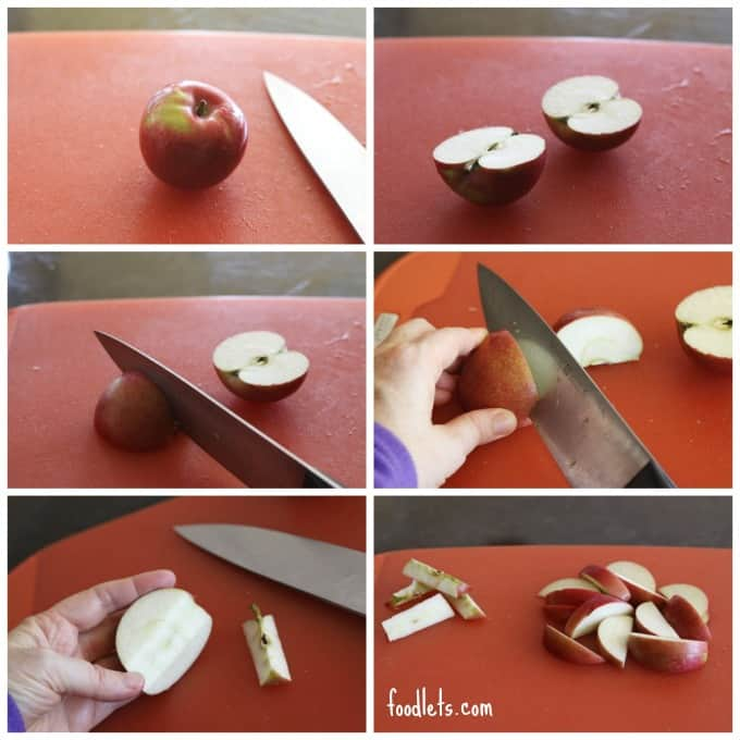 how to quickly core apples