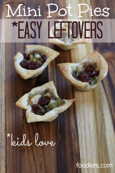 mini pot pies, easy leftovers kids love