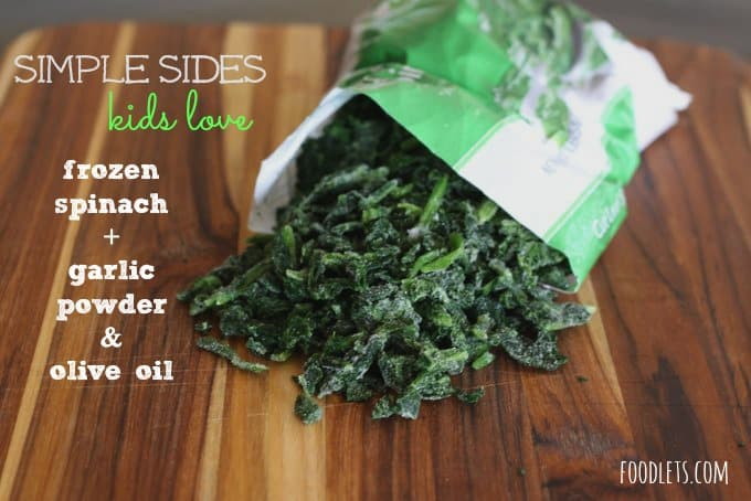 How to Turn a Bag of Frozen Spinach into Your Kids' Favorite: Skillet Spinach with Garlic