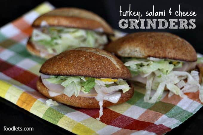 Toasted Turkey, Salami & Cheese Sandwiches: Homemade Mini-Grinders