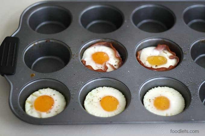 broiled eggs, foodlets.com