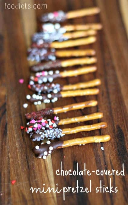 chocolate covered mini pretzel sticks foodlets