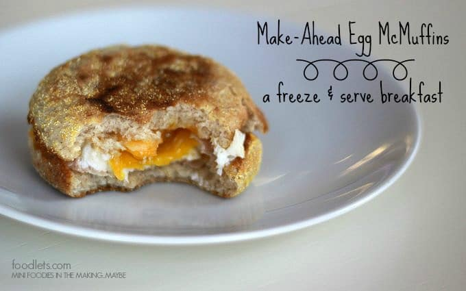 make-ahead egg mcmuffins, foodlets