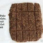 no-bake chocolate fruit and nut bars, foodlets
