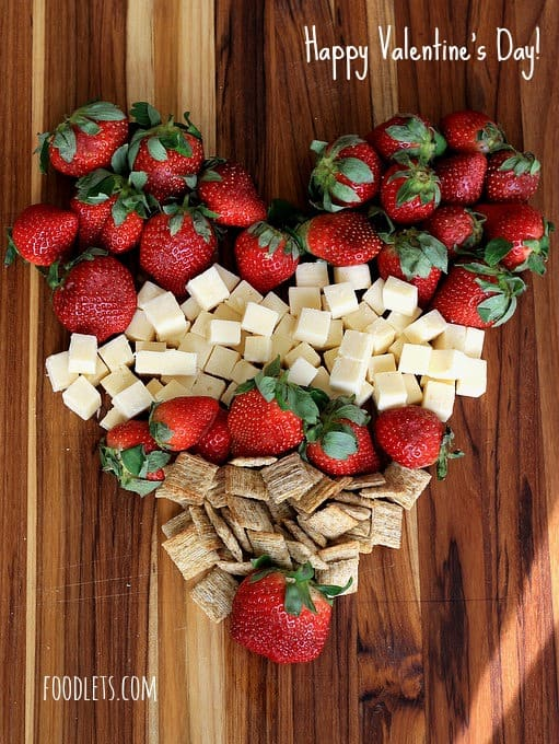 strawberry cheese board, foodlets