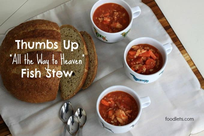 thumbs up fish stew, foodlets