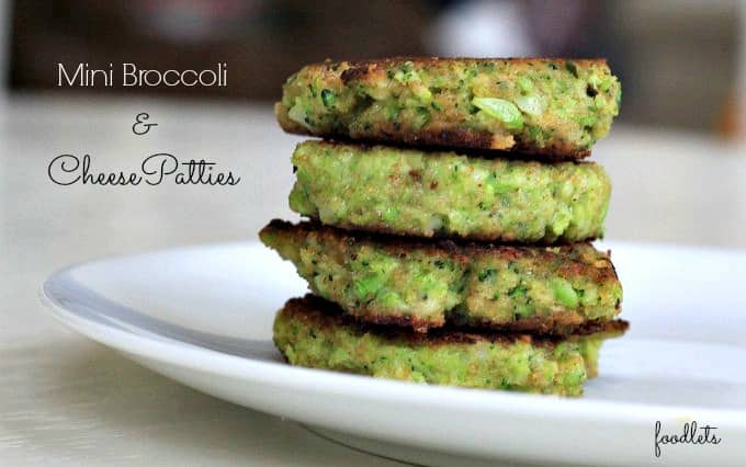 "Mini Broccoli & Cheese Patties (""Broccoli Cookies"")"