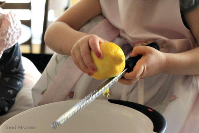 phoebe zesting lemon