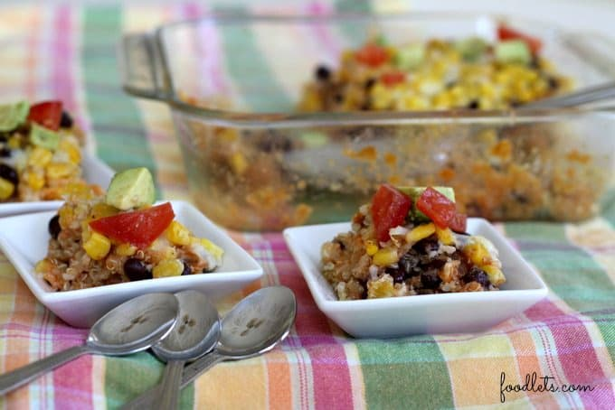quiona black bean enchilada casserole kids bowls, foodlets