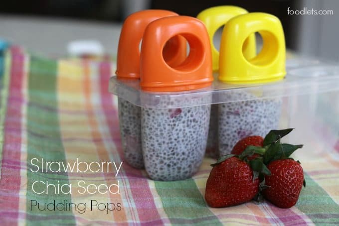 strawberry chia seed pudding pops