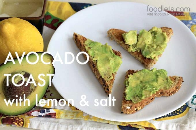 avocado toast, foodlets