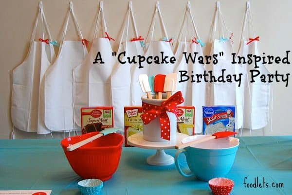 "a ""cupcake wars"" inspired birthday party"