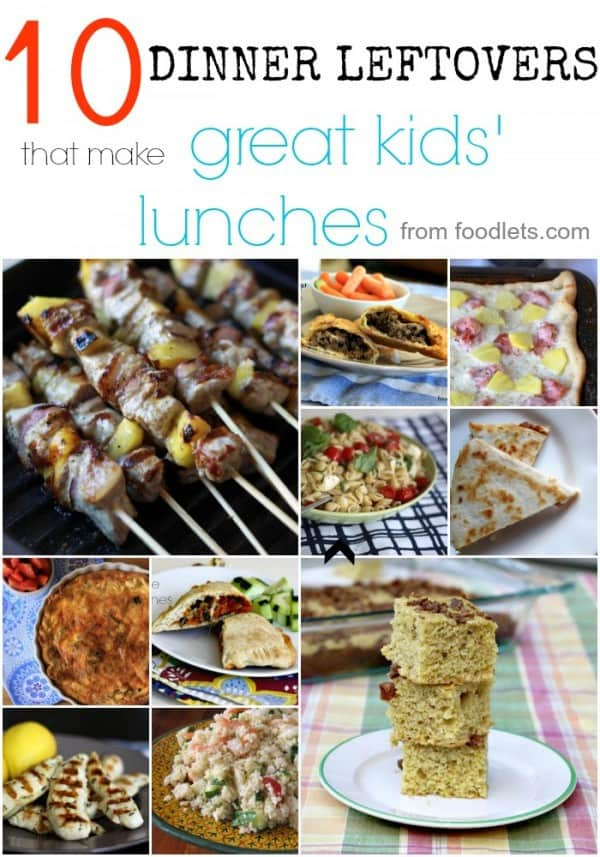 dinner leftovers that make great kids' lunches