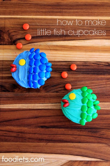 how to make little fish cupcakes