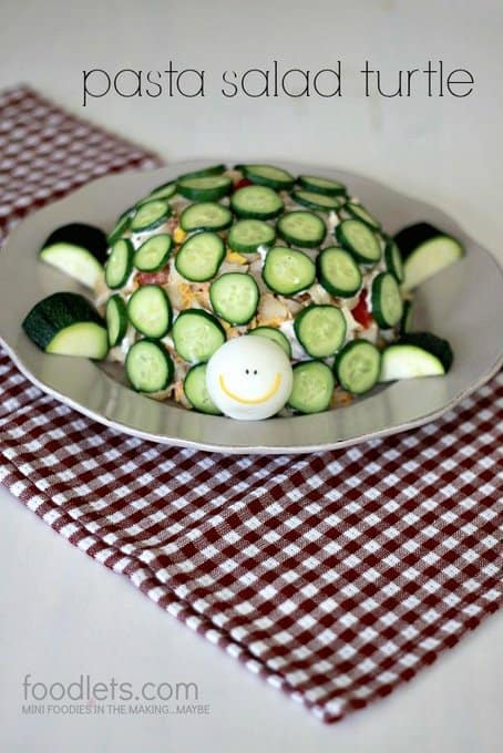 How to Make a Pasta Salad Turtle: The Potluck Dish of Your Kids' Dreams