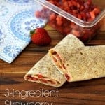 strawberry peanut butter wraps