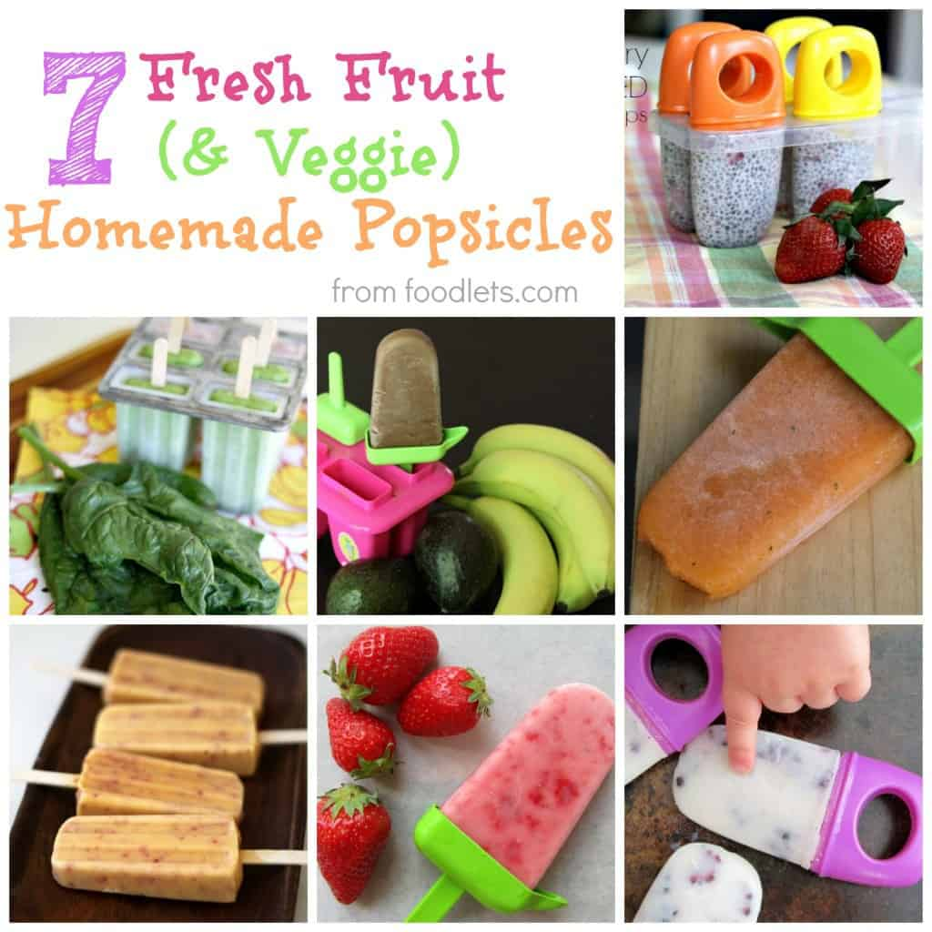 7 Fresh Fruit (& Veggie) Packed Popsicles Kids Love!