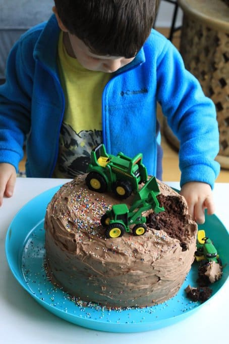 George's john deere chocolate cake