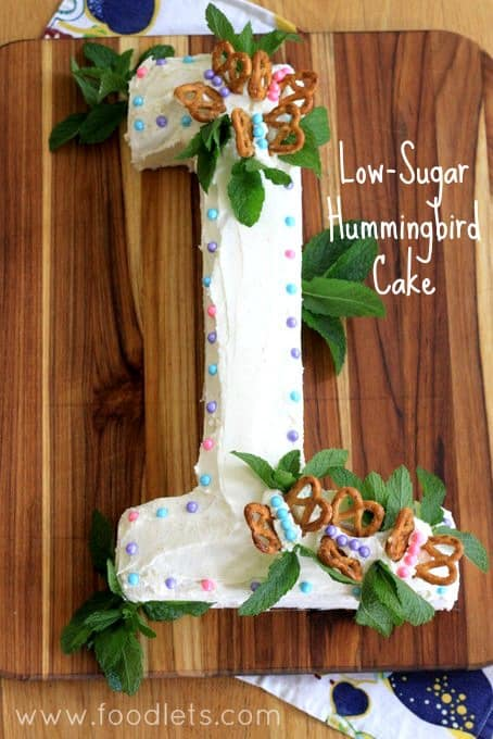 low sugar hummingbird cake, foodlets
