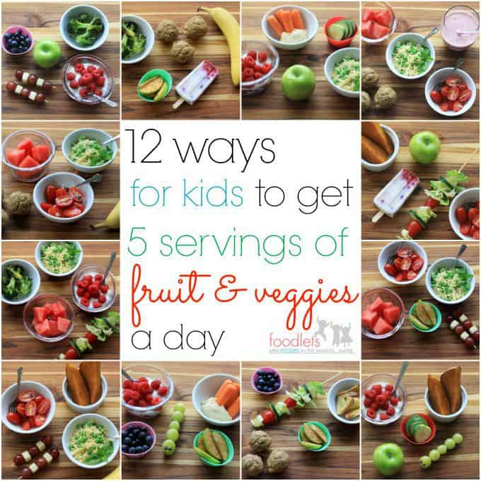 12 Pictures of What 5 Servings of Fruit & Veggies a Day Looks Like for Kids