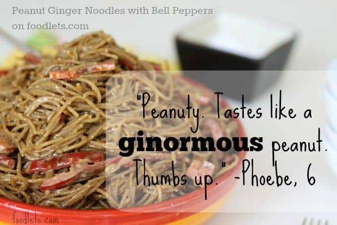 Ginger Peanut Noodles with Bell Peppers
