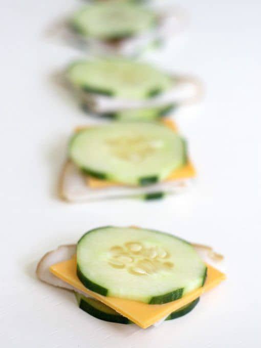 turkey & cheese cucumber sandwich