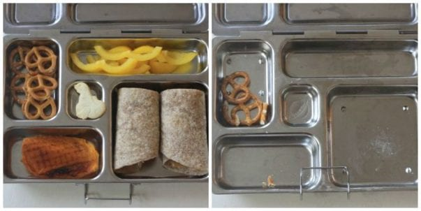 real school lunches pb wrap