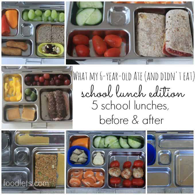 what she ate, school lunches