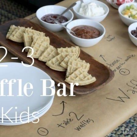 1-2-3 waffle bar for kids