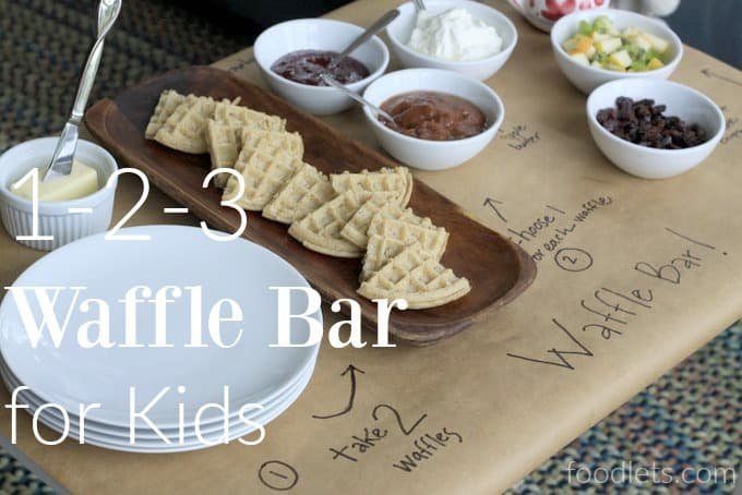 The Perfect 3-Step Waffle Bar Setup for Kids