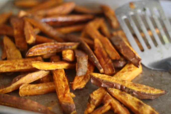sweet potato fries with cinnamon