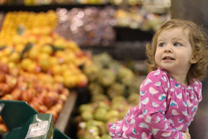 4 Phases of Grocery Shopping with a Toddler