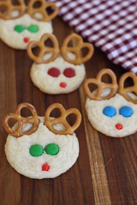 reindeer sugar cookies, foodlets.com