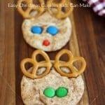 reindeer snickerdoodles, easy christmas cookies kids can make