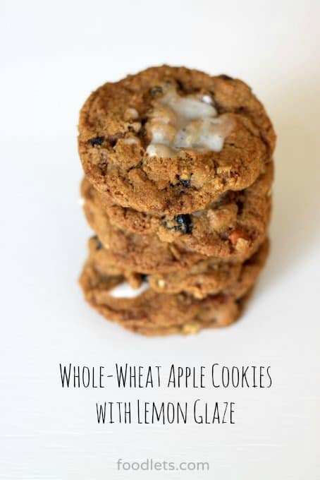Whole-Wheat Apple Cookies with Lemon Glaze