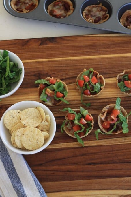 Mini Taco Cups with a Bonus Built-In Snack