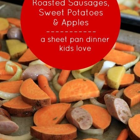 roasted sausages, sheet pan dinner foodlets