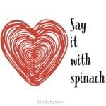 say it with spinach heart side foodlets