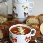creamy tomato soup with white beans cheese