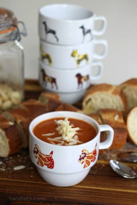 Hearty Tomato Soup with a Surprising Source of Protein