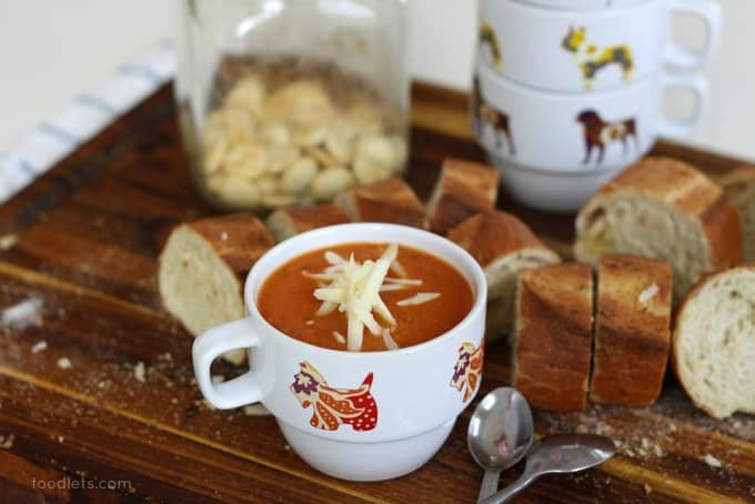 creamy tomato soup with white beans
