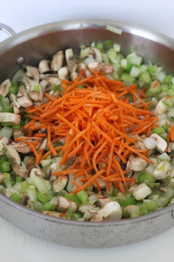 vegetables for tuna noodle casserole