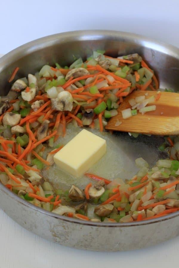 make a roux, tuna noodle casserole