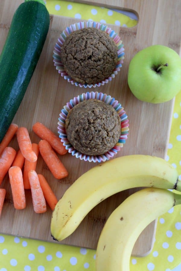 Healthy muffins with 5 kinds of veggies fruit inside healthy hidden veggie muffins forumfinder Images