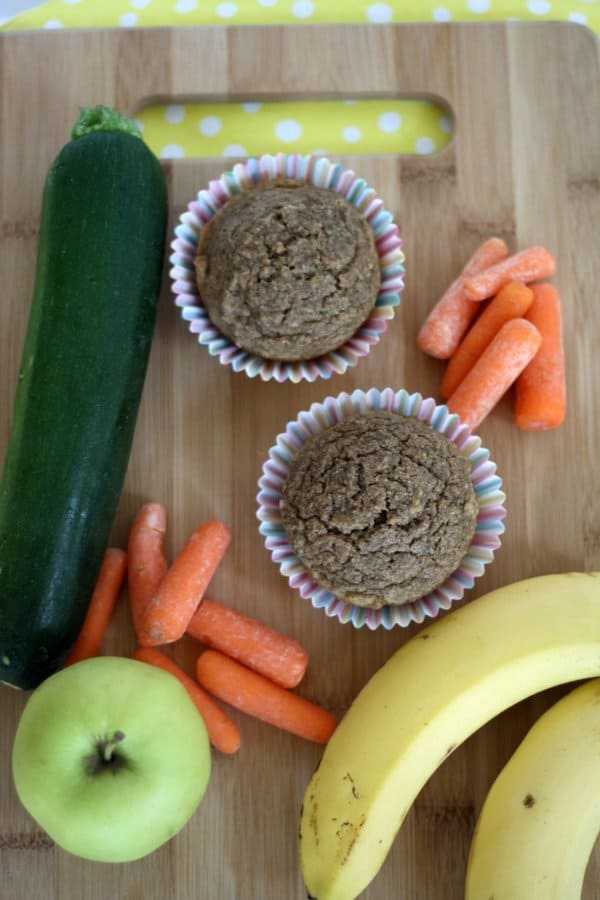 healthy hidden veggie muffins for kids
